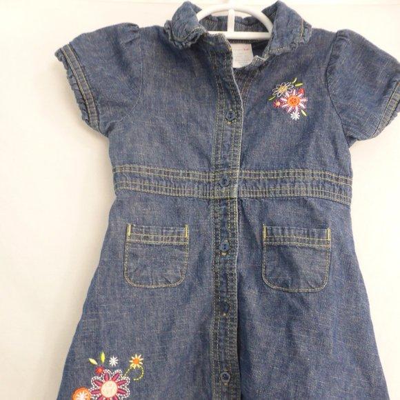 WONDERKIDS, 24 months, jean dress with flowers
